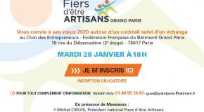 "[Invitation] ""Fiers d'être artisan Grand Paris"""