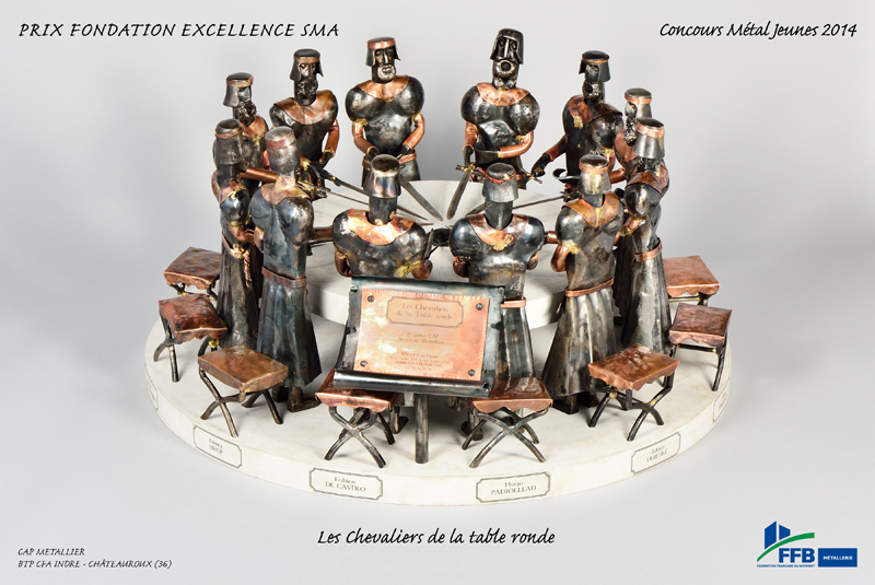 2014 contes l gendes union des m talliers - Histoire des chevaliers de la table ronde ...